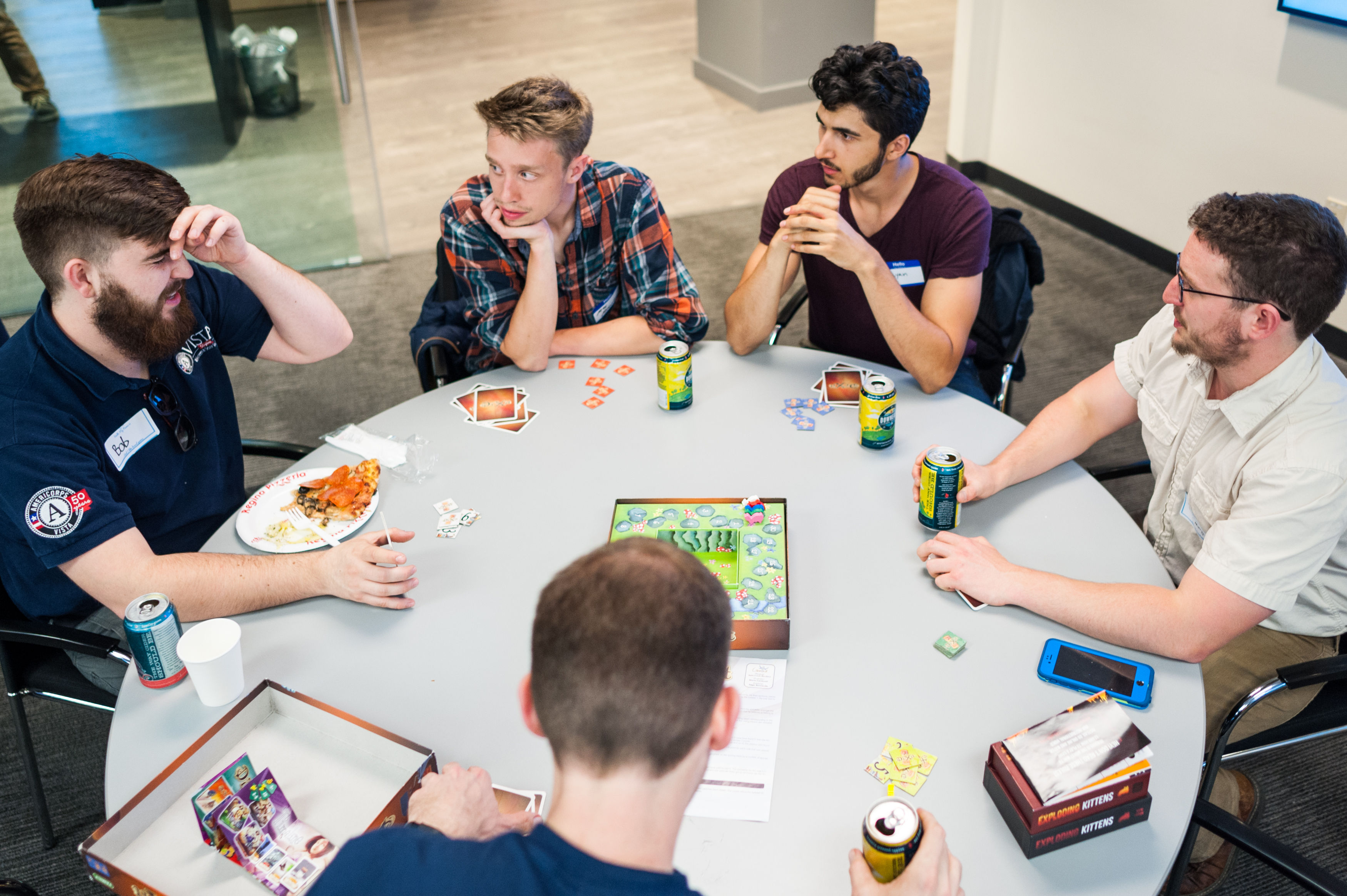 Photo of some fans playing board games